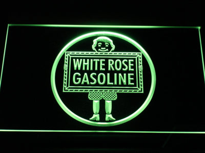 White Rose Gasoline - En-Ar-Co Boy LED Neon Sign - Green - SafeSpecial