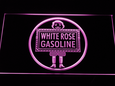 White Rose Gasoline - En-Ar-Co Boy LED Neon Sign - Purple - SafeSpecial