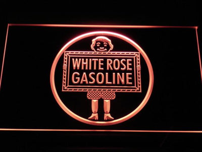 White Rose Gasoline - En-Ar-Co Boy LED Neon Sign - Red - SafeSpecial