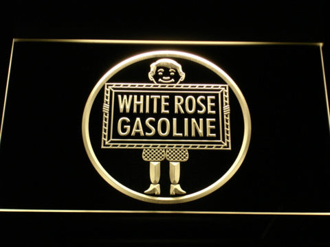 Image of White Rose Gasoline - En-Ar-Co Boy LED Neon Sign - Yellow - SafeSpecial