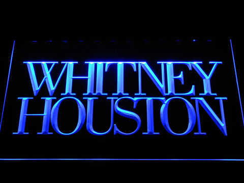 Whitney Houston LED Neon Sign - Blue - SafeSpecial