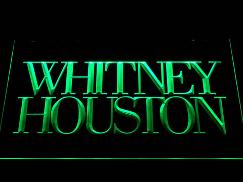Whitney Houston LED Neon Sign - Green - SafeSpecial