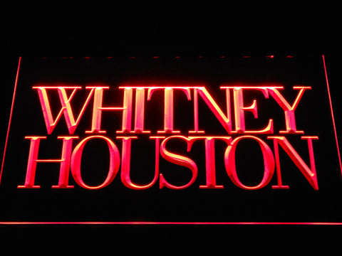 Whitney Houston LED Neon Sign - Red - SafeSpecial