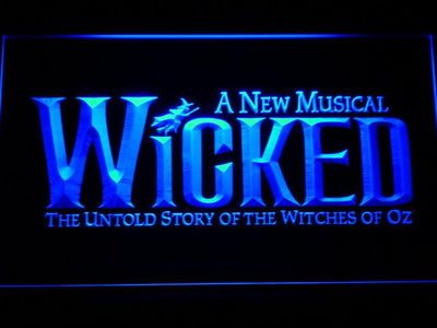 Wicked The Musical LED Neon Sign - Blue - SafeSpecial