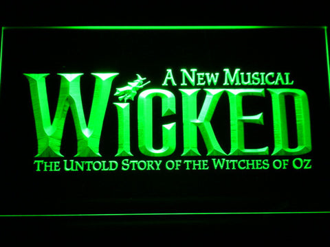 Image of Wicked The Musical LED Neon Sign - Green - SafeSpecial