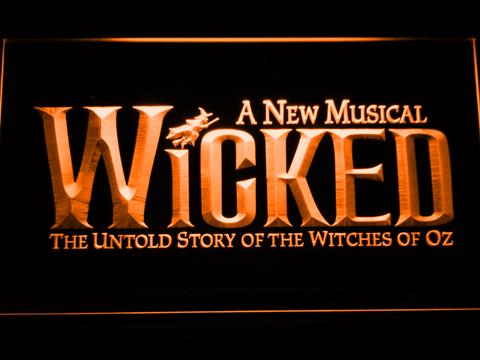 Image of Wicked The Musical LED Neon Sign - Orange - SafeSpecial