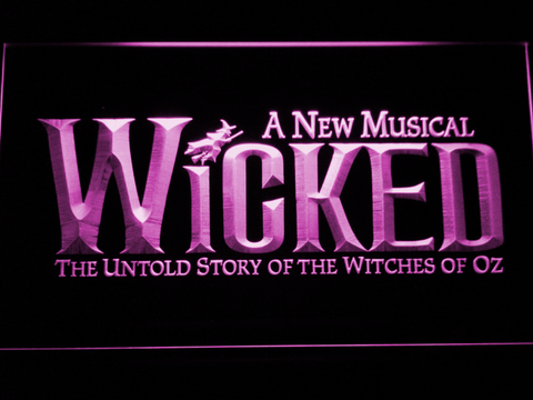 Image of Wicked The Musical LED Neon Sign - Purple - SafeSpecial