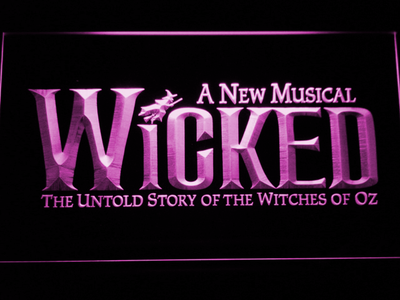 Wicked The Musical LED Neon Sign - Purple - SafeSpecial