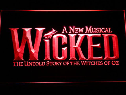 Image of Wicked The Musical LED Neon Sign - Red - SafeSpecial