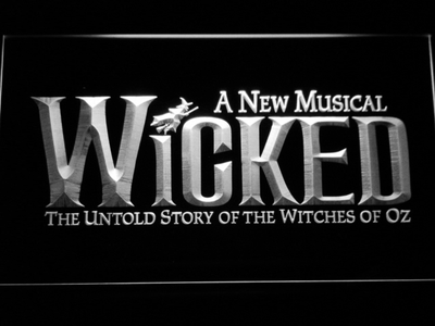 Wicked The Musical LED Neon Sign - White - SafeSpecial