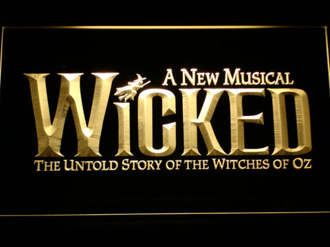 Image of Wicked The Musical LED Neon Sign - Yellow - SafeSpecial