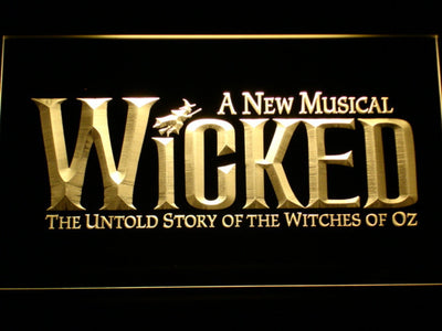 Wicked The Musical LED Neon Sign - Yellow - SafeSpecial
