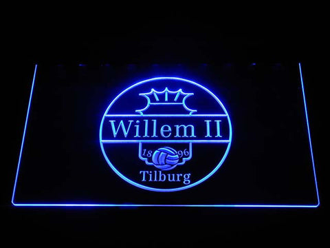Image of Willem II Tilburg LED Neon Sign - Blue - SafeSpecial