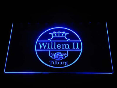 Willem II Tilburg LED Neon Sign - Blue - SafeSpecial