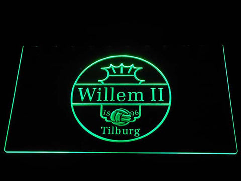 Image of Willem II Tilburg LED Neon Sign - Green - SafeSpecial