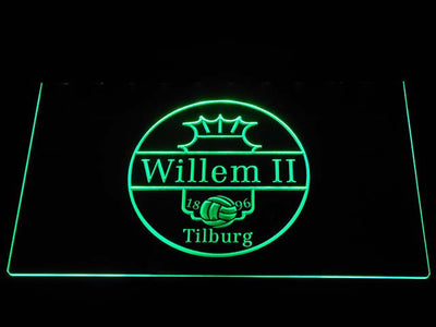 Willem II Tilburg LED Neon Sign - Green - SafeSpecial