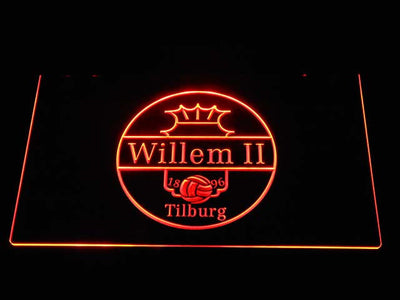 Willem II Tilburg LED Neon Sign - Orange - SafeSpecial