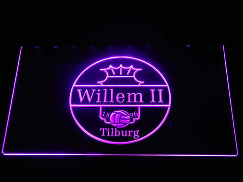 Image of Willem II Tilburg LED Neon Sign - Purple - SafeSpecial