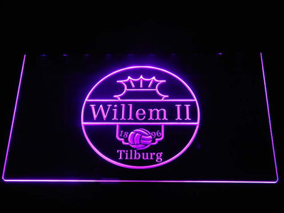 Willem II Tilburg LED Neon Sign - Purple - SafeSpecial