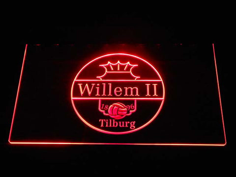 Image of Willem II Tilburg LED Neon Sign - Red - SafeSpecial