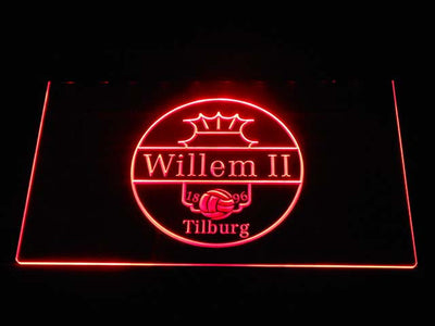 Willem II Tilburg LED Neon Sign - Red - SafeSpecial