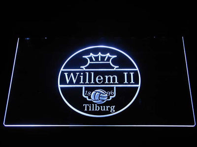 Willem II Tilburg LED Neon Sign - White - SafeSpecial