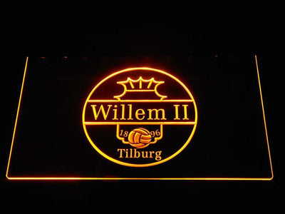 Willem II Tilburg LED Neon Sign - Yellow - SafeSpecial