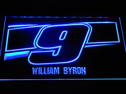 Image of William Byron 9 LED Neon Sign - Blue - SafeSpecial