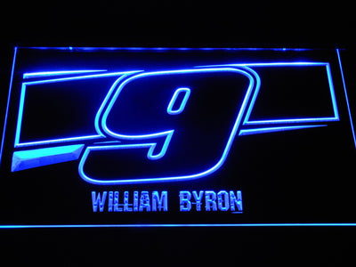 William Byron 9 LED Neon Sign - Blue - SafeSpecial