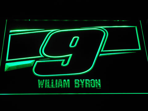 Image of William Byron 9 LED Neon Sign - Green - SafeSpecial