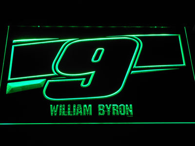 William Byron 9 LED Neon Sign - Green - SafeSpecial