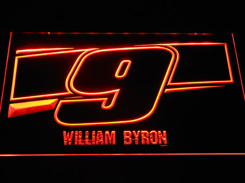 Image of William Byron 9 LED Neon Sign - Orange - SafeSpecial