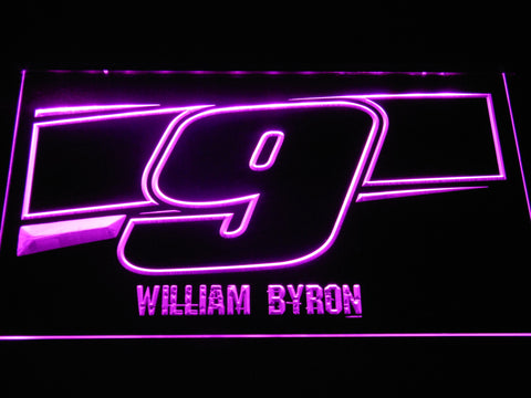 Image of William Byron 9 LED Neon Sign - Purple - SafeSpecial