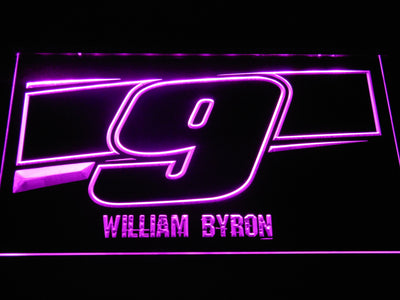 William Byron 9 LED Neon Sign - Purple - SafeSpecial