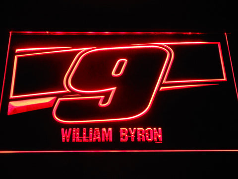 Image of William Byron 9 LED Neon Sign - Red - SafeSpecial
