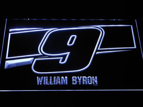Image of William Byron 9 LED Neon Sign - White - SafeSpecial