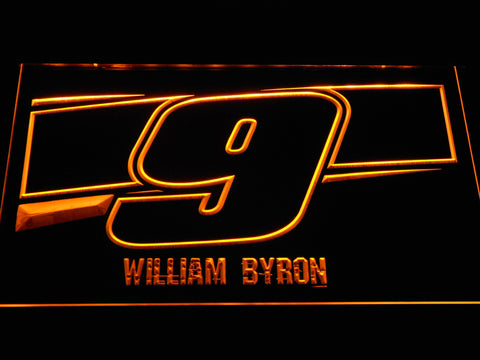 Image of William Byron 9 LED Neon Sign - Yellow - SafeSpecial