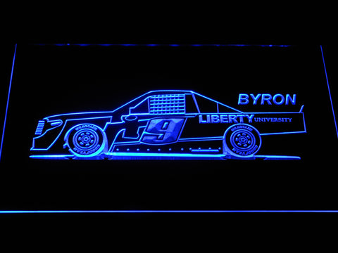Image of William Byron Race Car LED Neon Sign - Blue - SafeSpecial