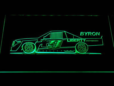 William Byron Race Car LED Neon Sign - Green - SafeSpecial