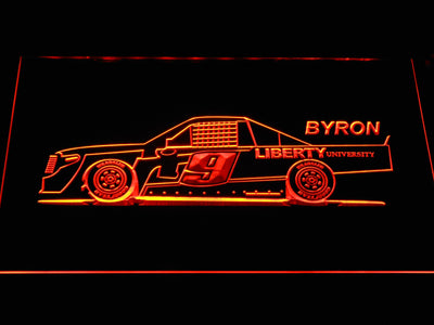 William Byron Race Car LED Neon Sign - Orange - SafeSpecial