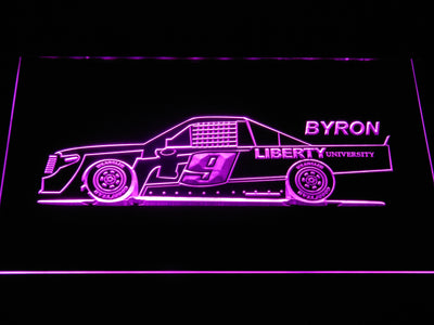 William Byron Race Car LED Neon Sign - Purple - SafeSpecial