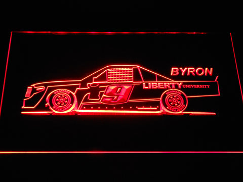 Image of William Byron Race Car LED Neon Sign - Red - SafeSpecial