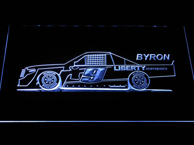 William Byron Race Car LED Neon Sign - White - SafeSpecial