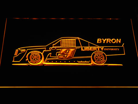 Image of William Byron Race Car LED Neon Sign - Yellow - SafeSpecial