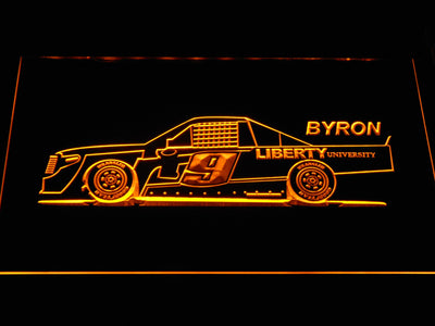 William Byron Race Car LED Neon Sign - Yellow - SafeSpecial