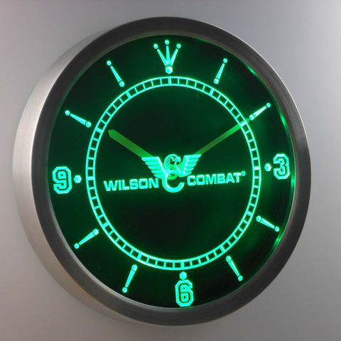 Image of Wilson Combat LED Neon Wall Clock - Green - SafeSpecial