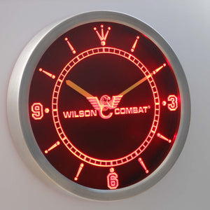 Wilson Combat LED Neon Wall Clock - Red - SafeSpecial