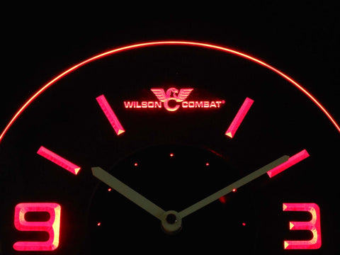 Image of Wilson Combat Modern LED Neon Wall Clock - Red - SafeSpecial