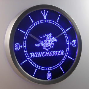 Winchester LED Neon Wall Clock - Blue - SafeSpecial