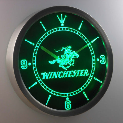 Image of Winchester LED Neon Wall Clock - Green - SafeSpecial